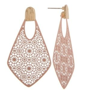 Jewelry - Peach Filigree Earrings